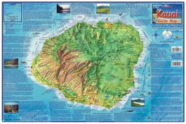 Kauai Guide Map, Laminated by Frankos Maps Ltd.