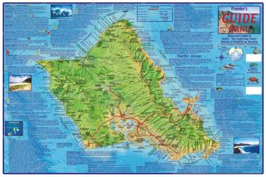 Oahu Guide Map, Laminated by Frankos Maps Ltd.