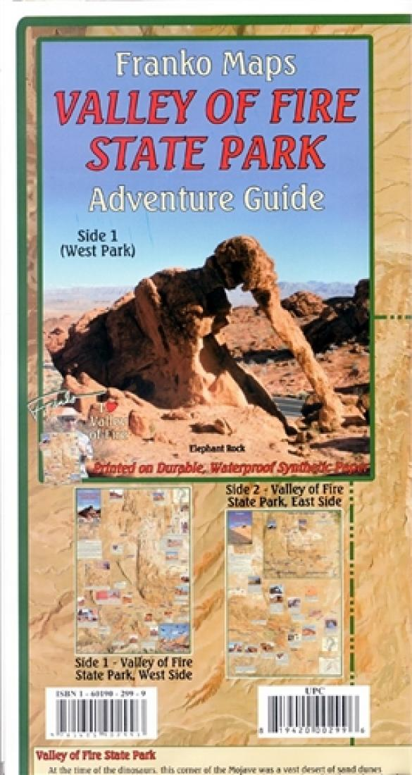 Valley Of Fire State Park Adventure Guide Folded Map By Frankos