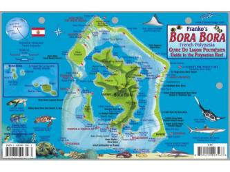 Bora Bora Fish Card, French Polynesia by Frankos Maps Ltd.