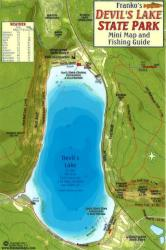 Devil's Lake State Park Fish Card by Frankos Maps Ltd.