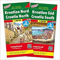 Croatia Map Pack, Croatia North and South by Freytag, Berndt und Artaria