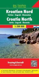 Croatia, North, Istria, Zagreb and Slavonia by Freytag, Berndt und Artaria