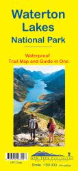 Waterton Lakes National Park, Alberta and British Columbia Trail Map and Guide (waterproof) by Gem Trek