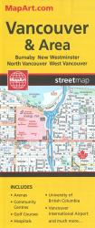 Vancouver & Area Street Map by MapArt Publishing