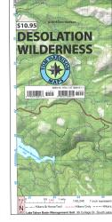Desolation Wilderness Trail Map by Tom Harrison Maps