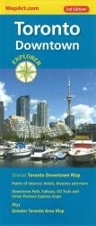 Toronto Downtown Explorer Map by Canadian Cartographics Corporation