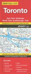 Toronto, Ontario Street Map by Canadian Cartographics Corporation