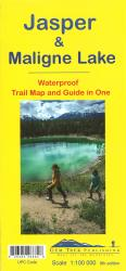 Jasper and Maligne Lake, BC Trail Map and Guide in One (waterproof) by Gem Trek