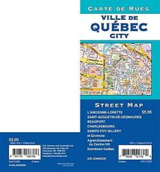 Quebec City Street Map by GM Johnson