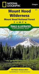 Mount Hood, Wilderness, Map 321 by National Geographic Maps