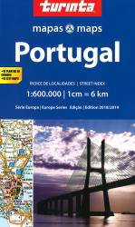 Portugal 1:600,000 map with 18 city maps by Turinta