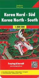Korea, North and South by Freytag-Berndt und Artaria