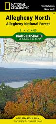 Allegheny National Forest, North, Map 738 by National Geographic Maps