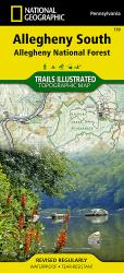 Allegheny National Forest, South, Map 739 by National Geographic Maps