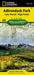 Lake Placid and High Peaks, Adirondack Park, Map 742 by National Geographic Maps