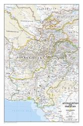 Afghanistan, Pakistan Wall Map (21.5 x 32.5 inches) (Tubed) by National Geographic Maps