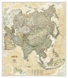 Asia Executive Wall Map - Laminated (33.25 x 38 inches) by National Geographic Maps
