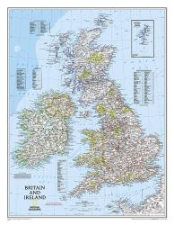 Britain and Ireland Classic Wall Map - Laminated (23.5 x 30.25 inches) by National Geographic Maps