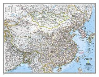 China Classic Wall Map (30.25 x 23.5 inches) (Tubed) by National Geographic Maps