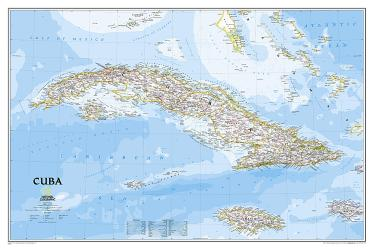 Cuba Classic Wall Map - Laminated (36 x 24 inches) by National Geographic Maps