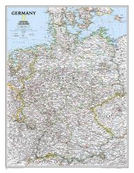 Germany Classic Wall Map (23.5 x 30.25 inches) (Tubed) by National Geographic Maps