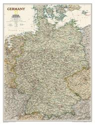 Germany Executive Wall Map (23 x 30 inches) (Tubed) by National Geographic Maps