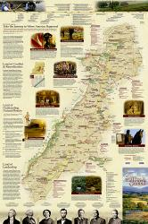 Journey Through Hallowed Ground: 2 sided Wall Map (24 x 36 inches) (Folded) by National Geographic Maps