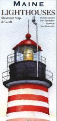 Maine Lighthouses Map by Bella Terra Publishing LLC