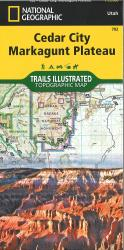 Cedar City and Markagunt Plateau topographic map by National Geographic Maps