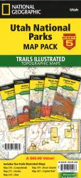 Utah National Parks map pack by National Geographic Maps