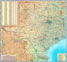 Texas Wall Map by Compart Maps