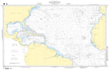 North Atlantic Ocean - North America To Africa Nautical Chart (12) by National Geospatial-Intelligence Agency
