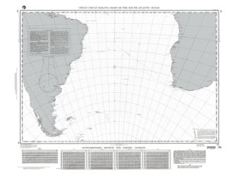 Great Circle Sailing Chart Of The South Atlantic Ocean (NGA-24-20) by National Geospatial-Intelligence Agency