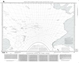Great Circle Sailing Chart Of The South Pacific Ocean (NGA-63-24) by National Geospatial-Intelligence Agency