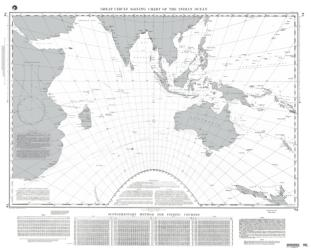 Great Circle Sailing Chart Of The Indian Ocean (NGA-74-18) by National Geospatial-Intelligence Agency