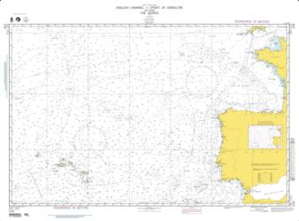 English Channel To The Strait Of Gibraltar Nautical Chart (103) by National Geospatial-Intelligence Agency