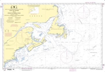 North Atlantic Ocean - Gulf Of Maine To Strait Of Belle Isle (NGA-109-5) by National Geospatial-Intelligence Agency