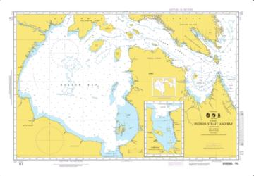 Hudson Strait And Bay Nautical Chart (111) by National Geospatial-Intelligence Agency
