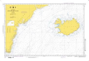 Waters Between Greenland And Iceland Nautical Chart (112) by National Geospatial-Intelligence Agency