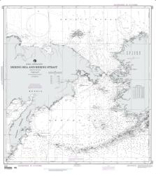 Bering Sea And Strait (Siberia And Alaska) (NGA-532-17) by National Geospatial-Intelligence Agency