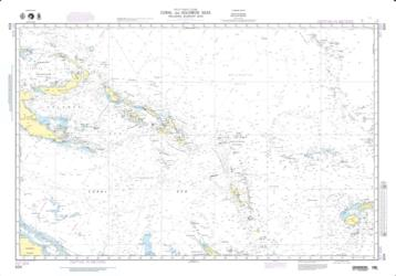 Coral And Solomon Seas (And Adjacent Seas) (NGA-604-5) by National Geospatial-Intelligence Agency