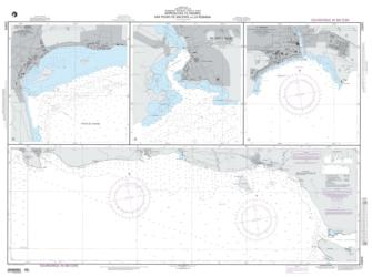 Approaches To Andres, San Pedro De Macoris And La Romana Nautical Chart (25849) by National Geospatial-Intelligence Agency