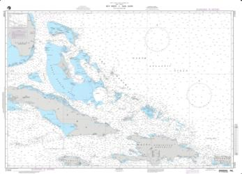 Key West To San Juan Nautical Chart (27005) by National Geospatial-Intelligence Agency