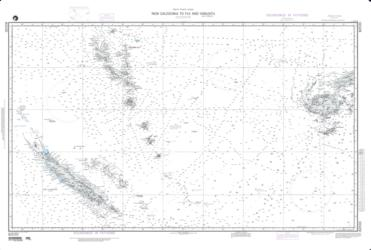 New Caledonia To Fiji Islands And Vanuatu Nautical Chart (82030) by National Geospatial-Intelligence Agency