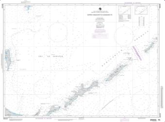 Ostrov Simushir To Ostrov Kunashir Nautical Chart (96020) by National Geospatial-Intelligence Agency
