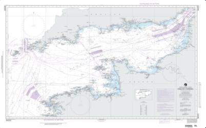 English Channel Nautical Chart (36005) by National Geospatial-Intelligence Agency