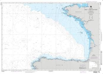 Bay Of Biscay; Brest To Cabo Finisterre (NGA-37025-26) by National Geospatial-Intelligence Agency