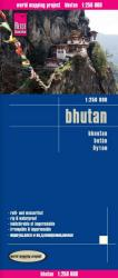 Bhutan - Road and Travel Map 1:250,000 by Reise Know-How Verlag