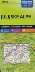 Julian Alps Tourist Map and Guide by Kartografija